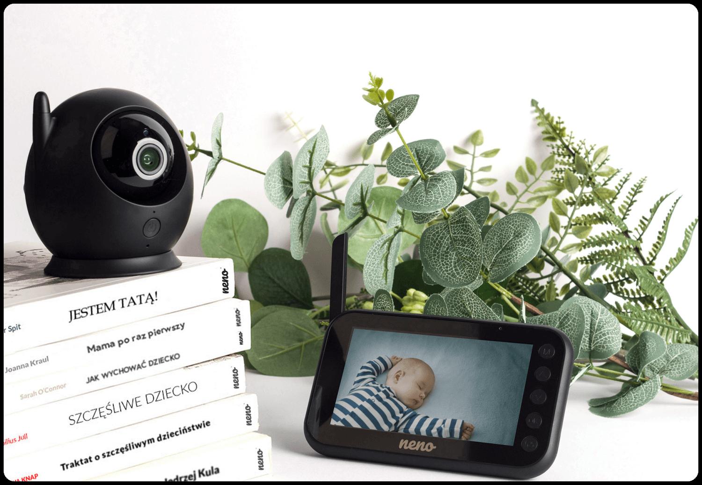 Designerska elektroniczna niania z kamera i ekranem